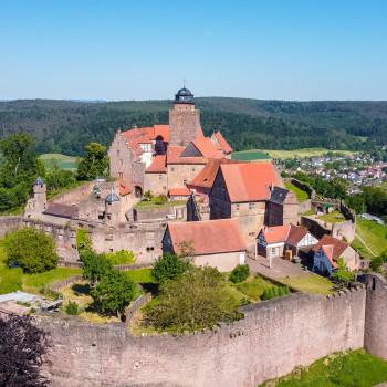 Burg Breuberg aus der Vogelperspektive