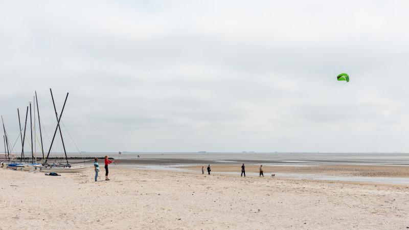 Drachenflieger am Strand von Nieblum auf Föhr
