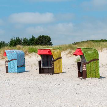 Strandkörbe am Strand von Nieblum auf Föhr