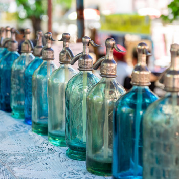 Bunte Sodaflaschen in Argentinien
