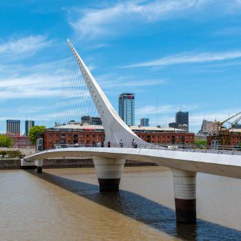 Puente de la Mujer in Buenos Aires