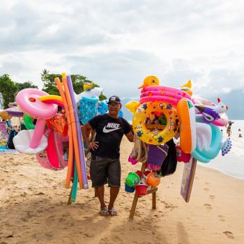 Strandverkäufer in Brasilien