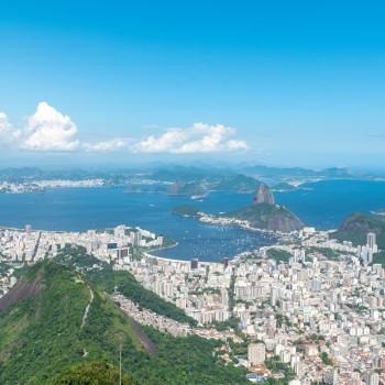 Ausblick vom Corcovado auf den Zuckerhut