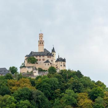 Die Marksburg in Braubach am Rhein