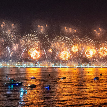 New Years fireworks in Rio de Janeiro
