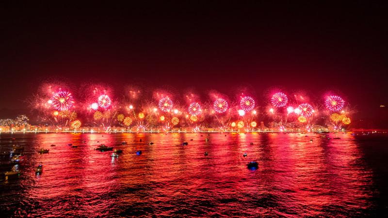 Feuerwerk in Rio de Janeiro an Silvester