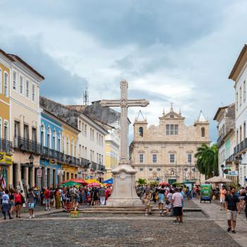 Platz vor dem Konvent des St Franziskus in Salvador