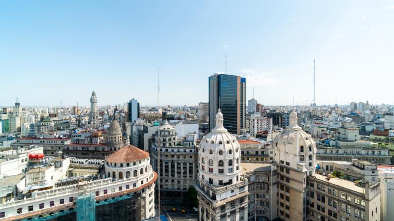 Ausblick vom Mirador Galeria Güemes in Buenos Aires