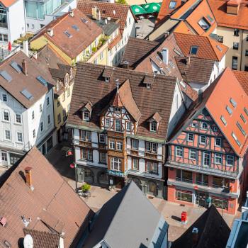 Altstadt Heidenheim aus der Luft