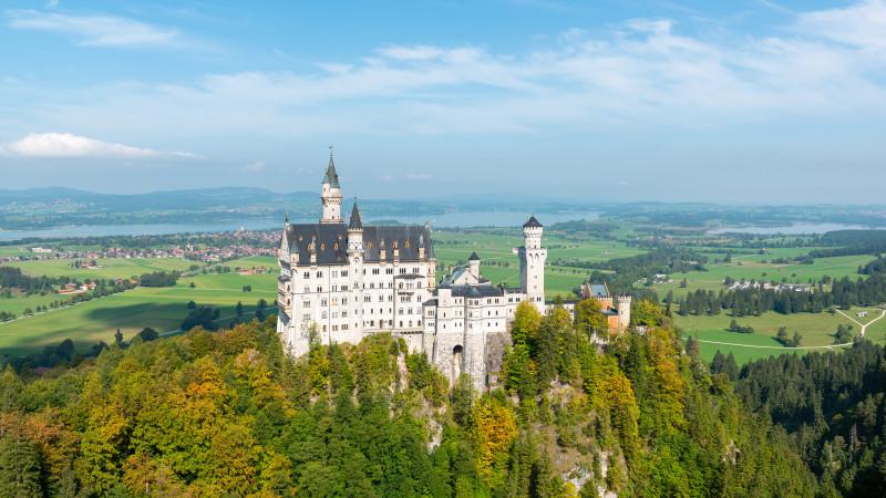 Ausblick auf Schloss Neuschwanstein