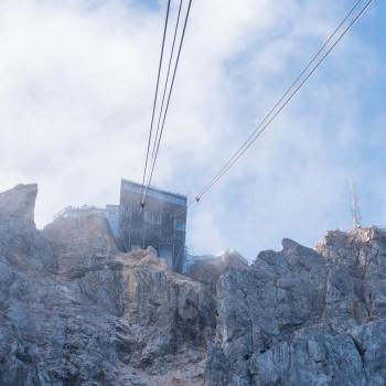 Seilbahnstation auf der Zugspitze