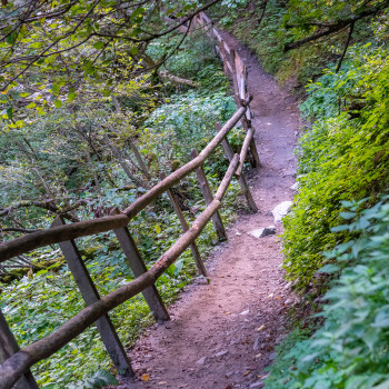 Wanderweg in der Gilfenklamm