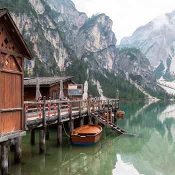 Bootsanleger am Pragser Wildsee
