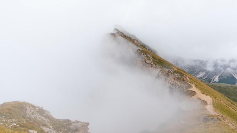 Seceda im Nebel