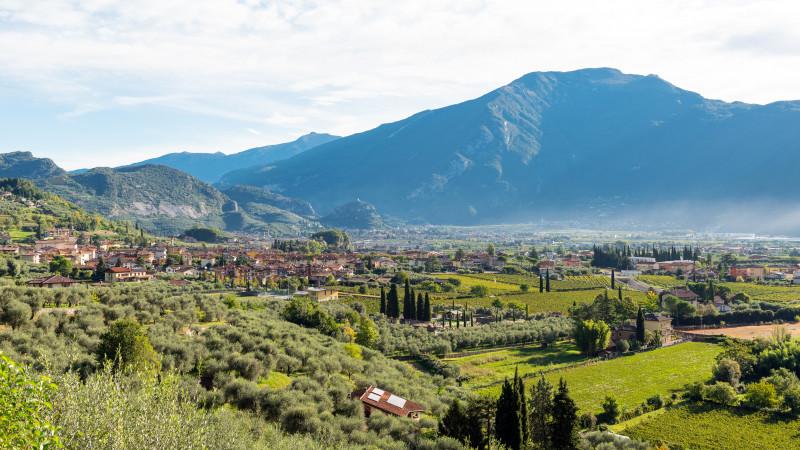 Schöne Landschaft in Südtirol bei Varone