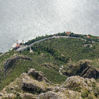 Blick auf den Gardasee vom Punta Larici