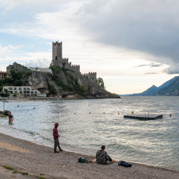 Old town and port of Malcesine on Lake Garda