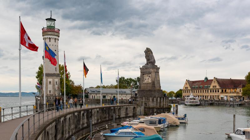Löwenmole in Lindau am Bodensee
