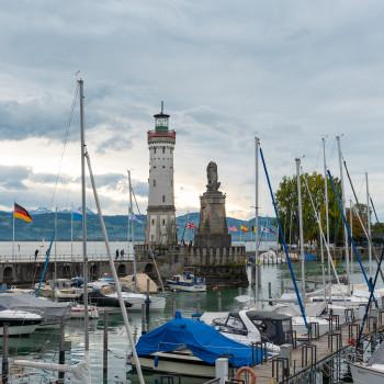 Blick von der Römerschanze in Lindau am Bodensee
