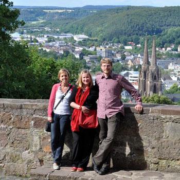 Besuch in der Altstadt von Marburg