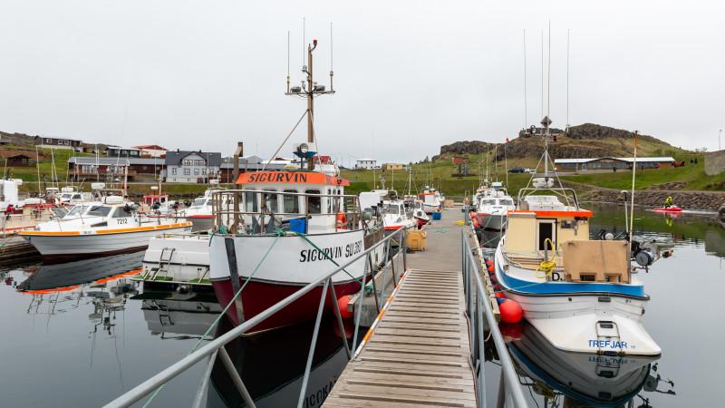 Djupivogur Hafen in Island