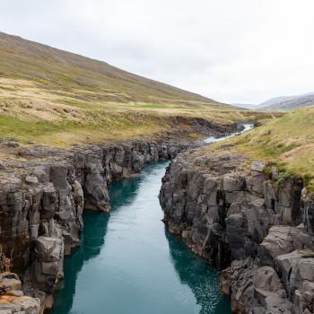 Fluss Jökulsa a Bru in Island