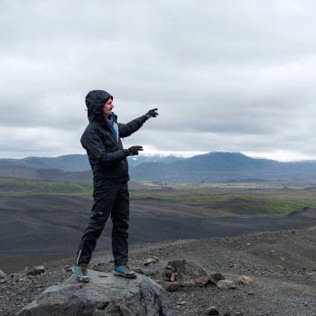 Myvatn in Iceland with Dimmuborgir and Hverfjall