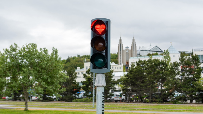 Hearts of Akureyri Traffic Light