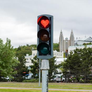 Hearts of Akureyri Traffic Light