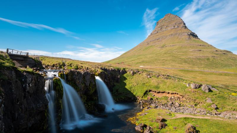 Kirkjufellsfoss Wasserfall