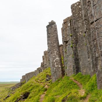 Steinsäulen bei den Gerduberg Cliffs
