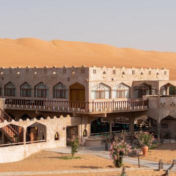 Restaurant des Thousand Nights Camp im Oman