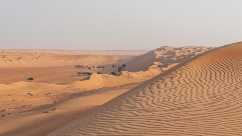 Talblick in der Wüste