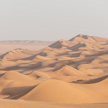 Sanddünen in der Wüste des Oman