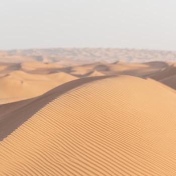 Dünenkamm in der Wüste
