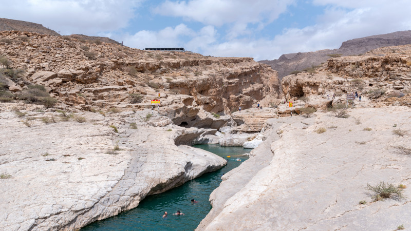 Wadi Bani Khalid Fluss