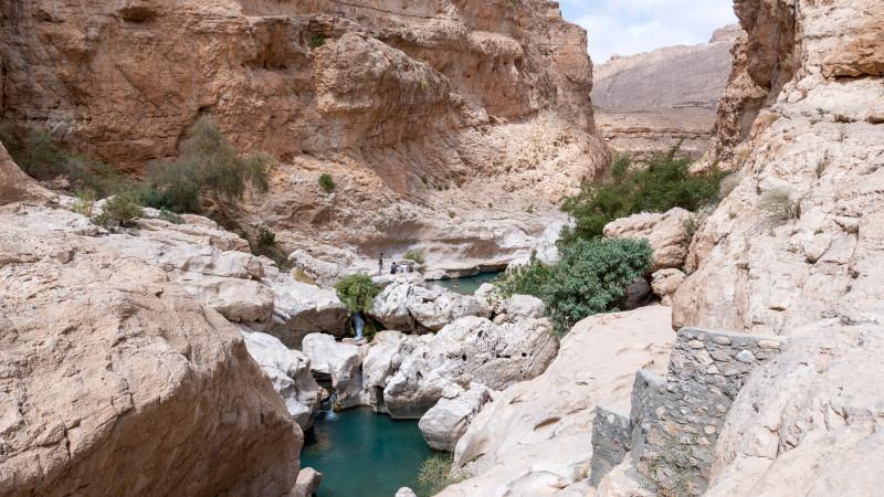 Badeschlucht in den Bergen des Oman