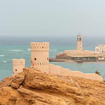 Arabischer Leuchtturm in Sur im Oman