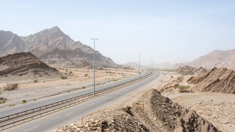 Autobahn 17 im Oman