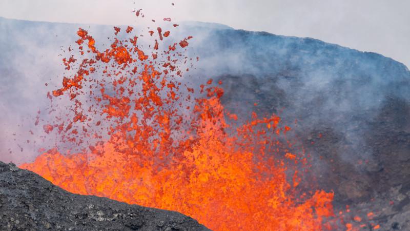 Eruption des Fagradalsfjall Vulkan in Island
