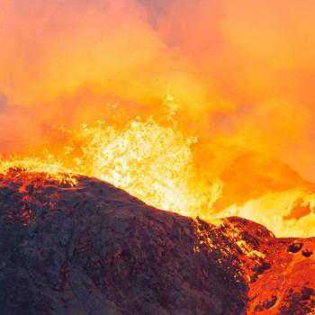 Lava Eruption des Fagradalsfjall Vulkan
