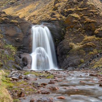 Helgufoss Wasserfall