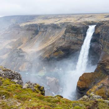 Island Reise mit Gjain und Haifoss Wasserfall