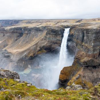 Haifoss Wasserfall in Island