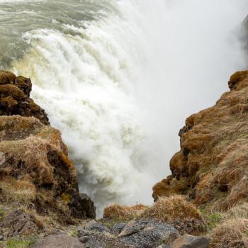 Nahaufnahme Gullfoss Wasserfall