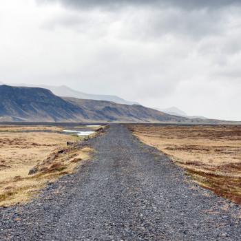 Straße in die isländische Wildnis