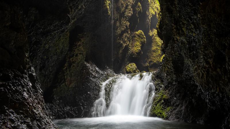 Nauthusagil Wasserfall in Island