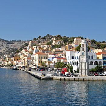 Insel Symi und der Hafen von Gialos