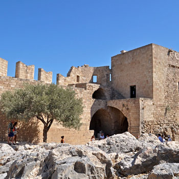 Akropolis von Lindos auf Rhodos