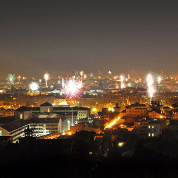 Rom Silvester Teil 5 - Piazza del Popolo & New Year Fireworks